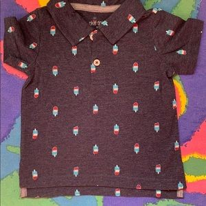 Bomb pop Fourth of July 🇺🇸 polo baby shirt